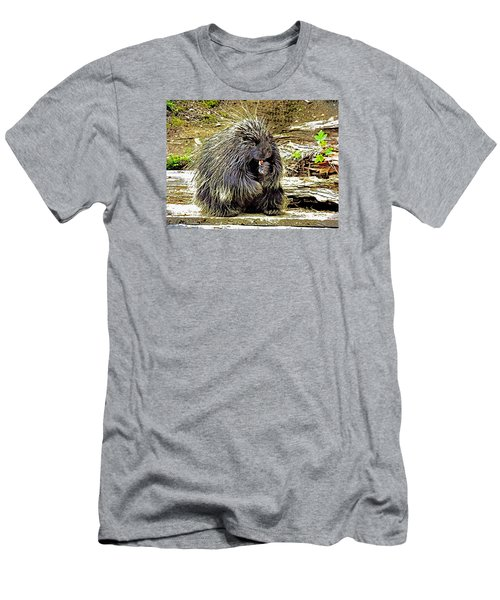 Men's T-Shirt (Slim Fit) featuring the photograph North American Porcupine by Kathy Kelly
