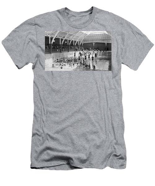 North Beach Bath House Men's T-Shirt (Athletic Fit)