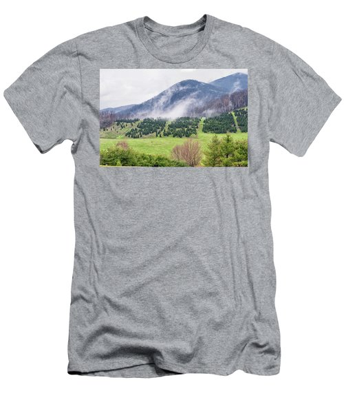 North Carolina Christmas Tree Farm Men's T-Shirt (Athletic Fit)