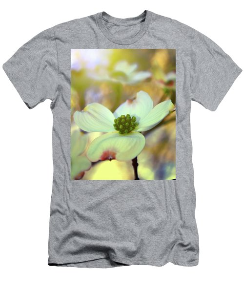 Men's T-Shirt (Slim Fit) featuring the painting North Carolina Dogwood State Flower by Gray  Artus