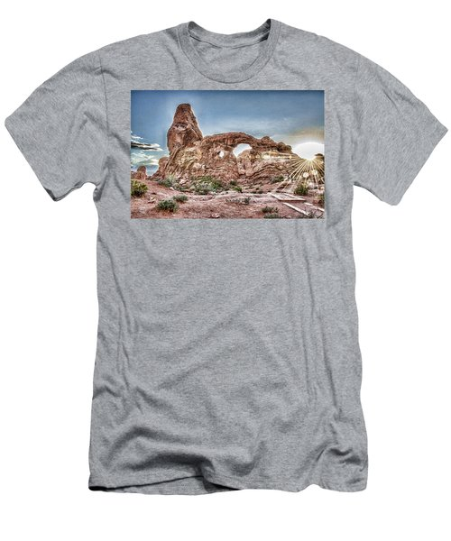 Men's T-Shirt (Slim Fit) featuring the photograph North Window Sundown Star by Daniel Hebard