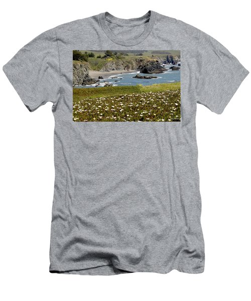 Northern California Coast Scene Men's T-Shirt (Athletic Fit)