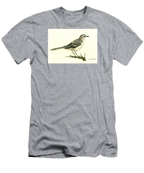 Northern Mockingbird Men's T-Shirt (Slim Fit) by Juan  Bosco