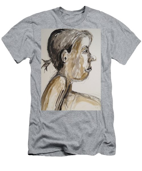 Men's T-Shirt (Athletic Fit) featuring the painting Nose Job Nose by Esther Newman-Cohen