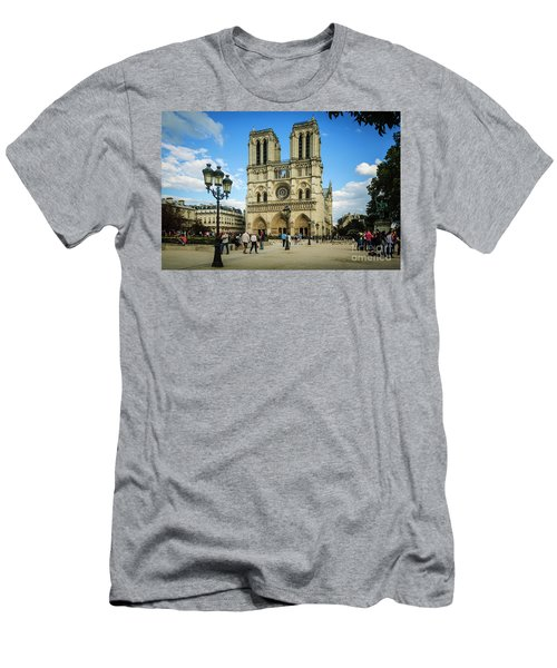 Notre Dame Cathedral Men's T-Shirt (Athletic Fit)