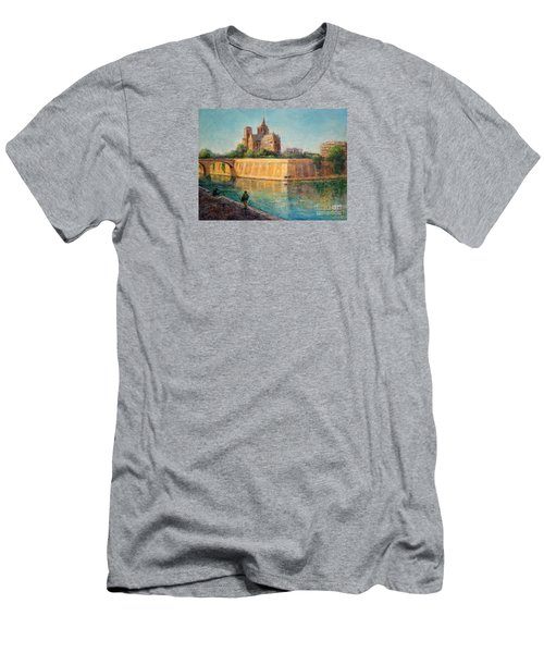 Notre Dame In Sunshine Men's T-Shirt (Slim Fit)