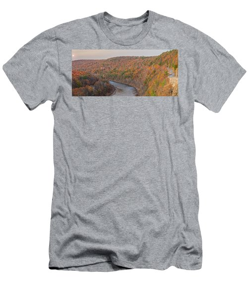 November Golden Hour At Hawk's Nest Men's T-Shirt (Athletic Fit)