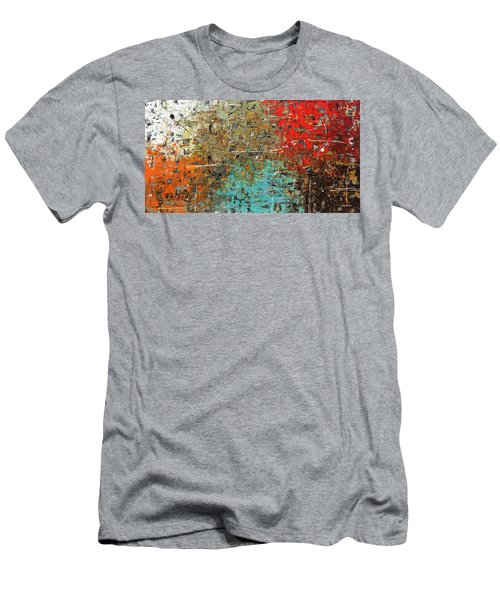 Men's T-Shirt (Slim Fit) featuring the painting Now Or Never by Carmen Guedez