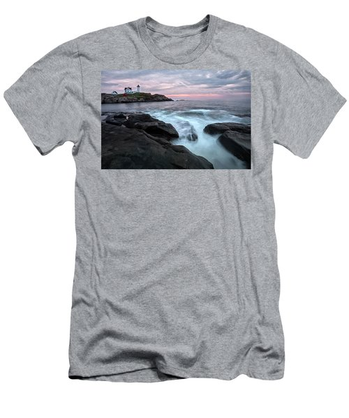 Nubble Lighthouse Of Maine Men's T-Shirt (Athletic Fit)