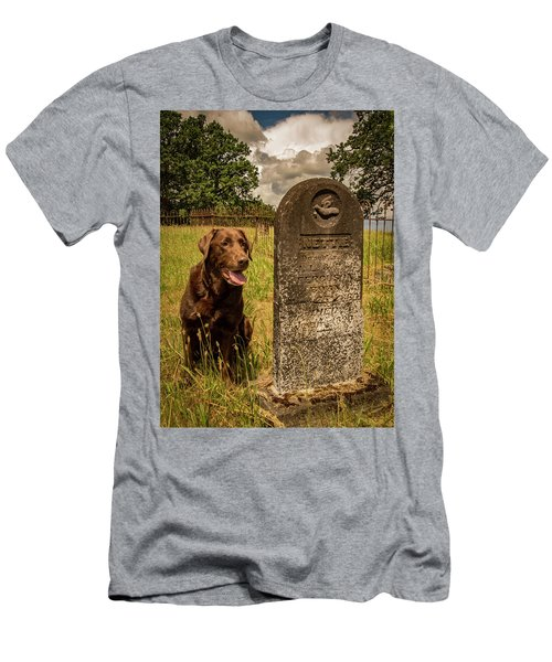 Men's T-Shirt (Slim Fit) featuring the photograph Nute In The Cemetery by Jean Noren