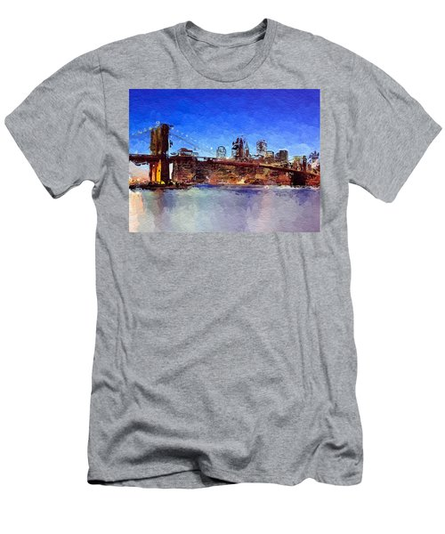 Nyc Abstract  Men's T-Shirt (Athletic Fit)