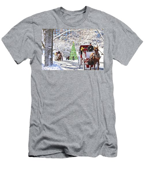 Festive Winter Carriage Rides Men's T-Shirt (Athletic Fit)
