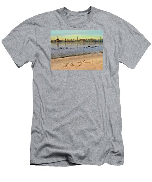 Men's T-Shirt (Slim Fit) featuring the photograph NYC by Nina Bradica