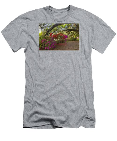 Men's T-Shirt (Athletic Fit) featuring the photograph Oak Tree Azaleas by Ken Barrett