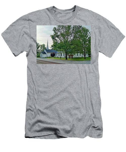 Men's T-Shirt (Slim Fit) featuring the photograph Oakland Christian Church by Cricket Hackmann