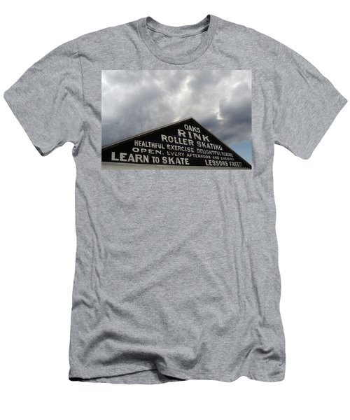 Men's T-Shirt (Athletic Fit) featuring the photograph Oaks Skating Rink by Frank DiMarco