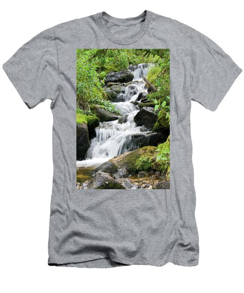 Men's T-Shirt (Slim Fit) featuring the photograph Oasis Cascade by David Chandler