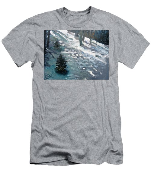 Men's T-Shirt (Slim Fit) featuring the painting Observing Snow by Gary Coleman