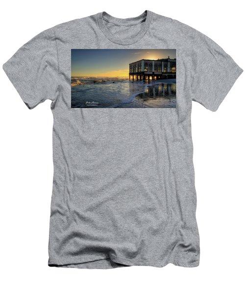 Oc Music Pier Sunset Men's T-Shirt (Slim Fit) by John Loreaux