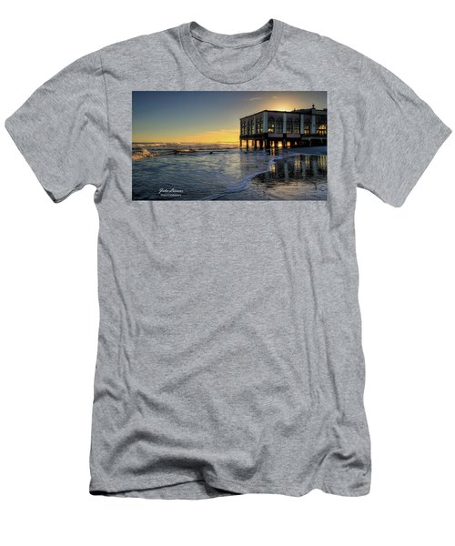 Oc Music Pier Sunset Men's T-Shirt (Athletic Fit)