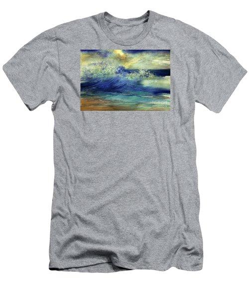 Men's T-Shirt (Slim Fit) featuring the painting Ocean by Allison Ashton