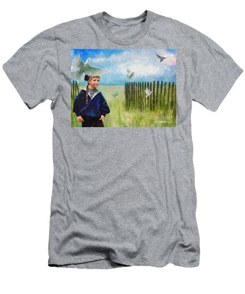 Ocean Breeze Men's T-Shirt (Slim Fit) by Alexis Rotella