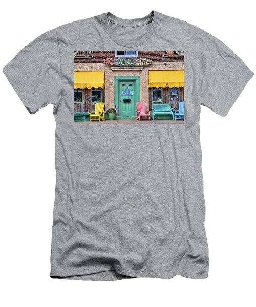 Ocean City N J Surf Cafe Men's T-Shirt (Slim Fit) by Allen Beatty