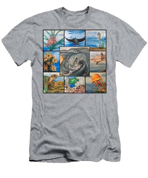 Ocean Collage #1 Men's T-Shirt (Athletic Fit)