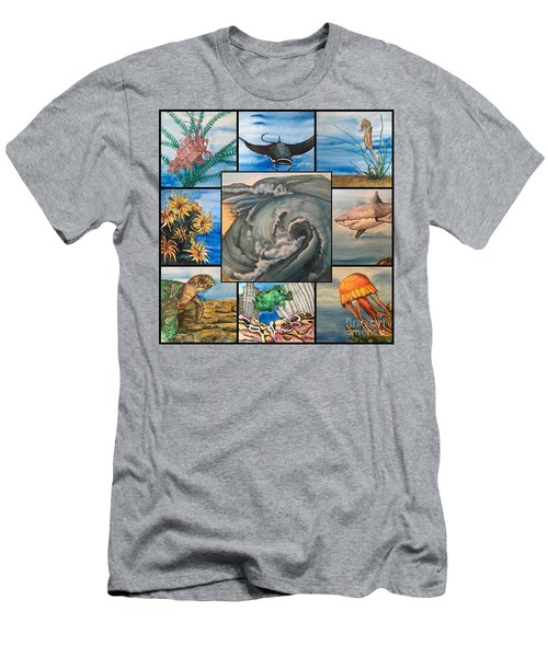 Ocean Collage #1 Men's T-Shirt (Athletic Fit)