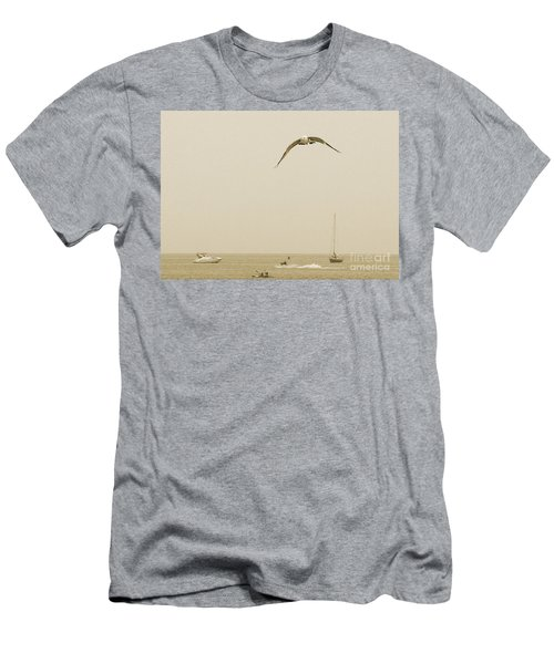 Men's T-Shirt (Slim Fit) featuring the photograph Ocean Fun by Raymond Earley
