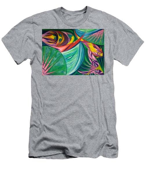 Ocean Graffiti Men's T-Shirt (Athletic Fit)