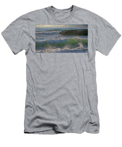 Men's T-Shirt (Slim Fit) featuring the photograph Crashing Waves by Elvira Butler