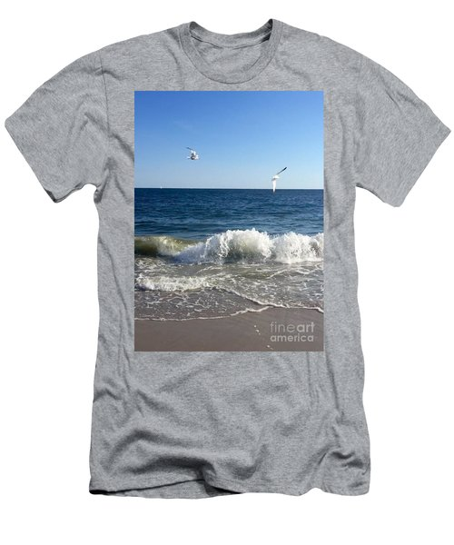 Ocean Waves Men's T-Shirt (Athletic Fit)