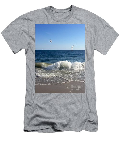 Ocean Waves Men's T-Shirt (Athletic Fit)
