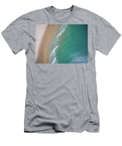 Ocean Waves Upon The Beach Men's T-Shirt (Athletic Fit)