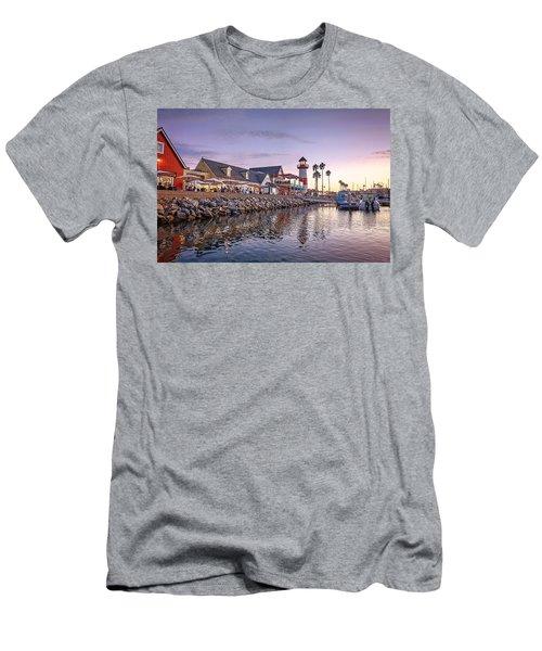 Oceanside Harbor Men's T-Shirt (Slim Fit) by Ann Patterson