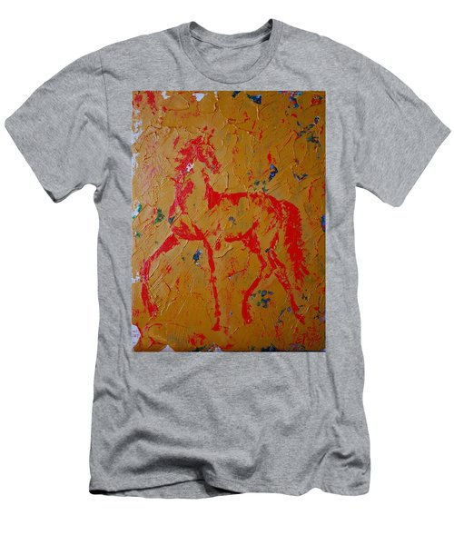 Ochre Horse Men's T-Shirt (Athletic Fit)