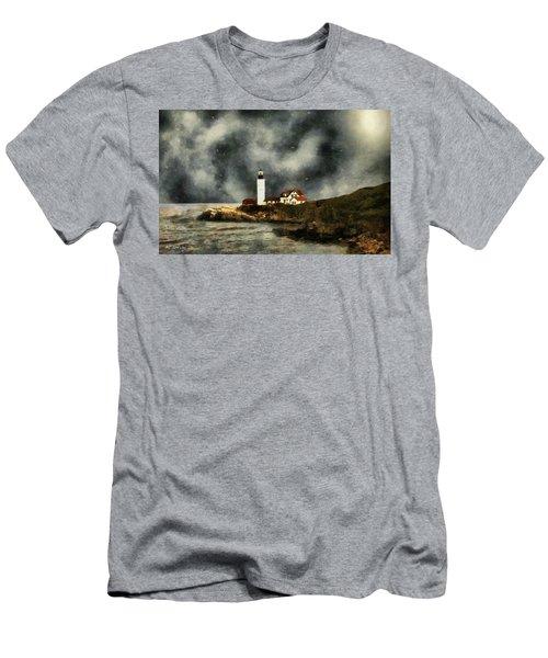 October Night, Portland Head Men's T-Shirt (Athletic Fit)
