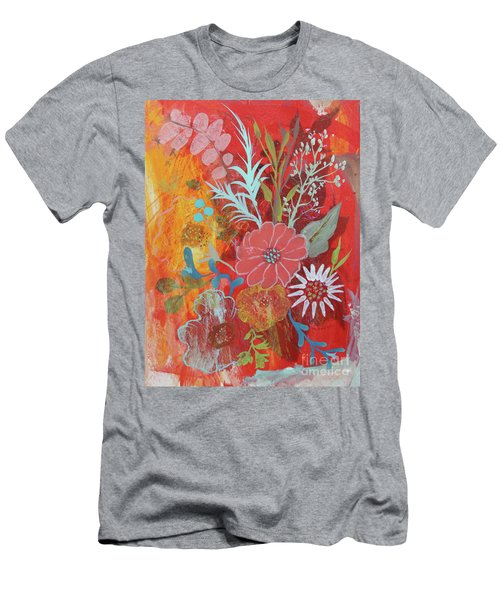 Men's T-Shirt (Athletic Fit) featuring the painting Ode To Spring by Robin Maria Pedrero