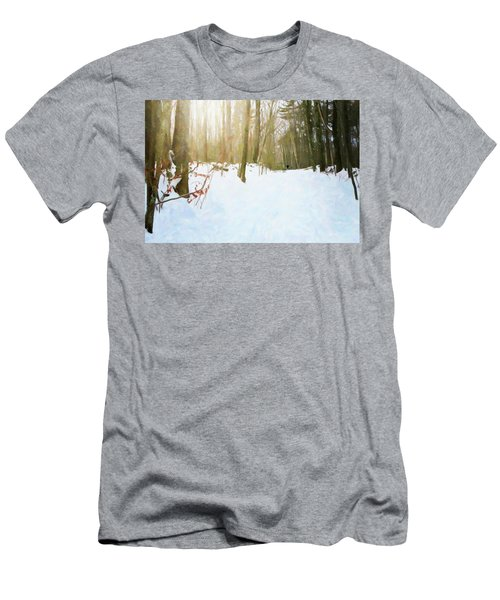 Men's T-Shirt (Athletic Fit) featuring the digital art Off The Beaten Path by Sue Collura