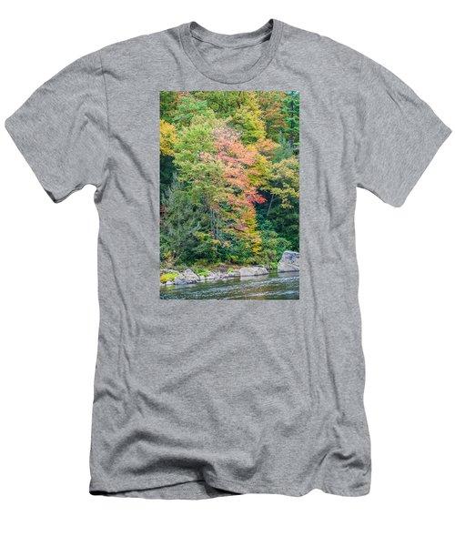 Men's T-Shirt (Slim Fit) featuring the photograph Ohio Pyle Colors - 9709 by G L Sarti