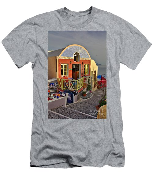Oia Pub Men's T-Shirt (Athletic Fit)