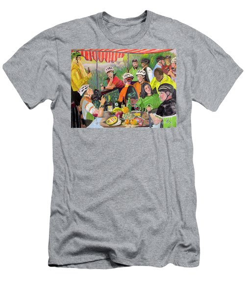 Oil- Luncheon Of The Cycling Party Men's T-Shirt (Athletic Fit)