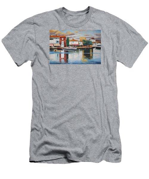 Oil Msc 019 Men's T-Shirt (Slim Fit) by Mario Sergio Calzi