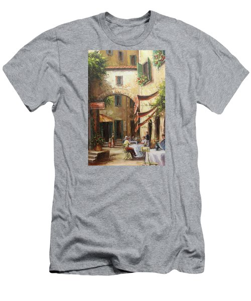 Oil Msc 050 Men's T-Shirt (Slim Fit) by Mario Sergio Calzi