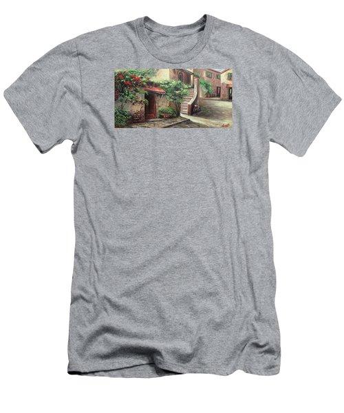 Oil Msc 058 Men's T-Shirt (Slim Fit) by Mario Sergio Calzi