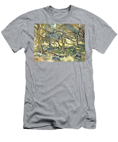 Oilve Grove Marmari Beach Men's T-Shirt (Athletic Fit)