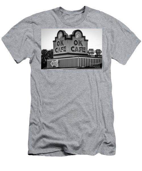 Ok Cafe Neon 2 B W Atlanta Classic Landmark Restaurant Art Men's T-Shirt (Athletic Fit)