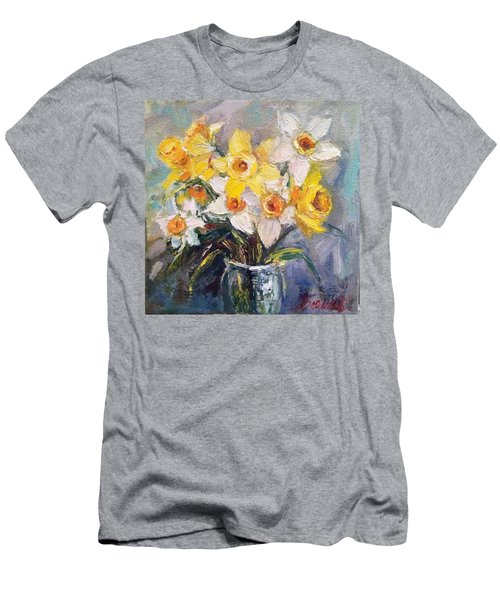 Ok Finished! #springflowers #daffodils Men's T-Shirt (Athletic Fit)