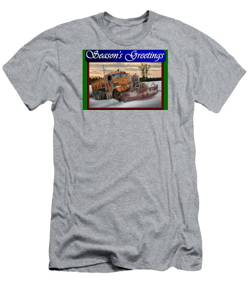 Ol' Pete Snowplow Christmas Card Men's T-Shirt (Athletic Fit)
